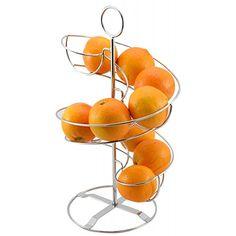 Frutero Original de Acero Cromado, dos alturas, en forma de espiral ✿ ▬► Ver oferta: https://cadaviernes.com/ofertas-de-fruteros-de-cocina/