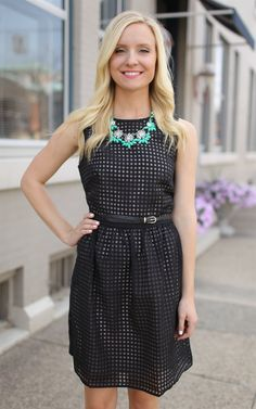 The Black & Tan A-line Dress - Gorgeous! This beautiful black dress would be a perfect addition to any wardrobe. Dress and Dwell - Good things for you and your home
