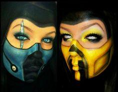 Mortal Kombat makeup
