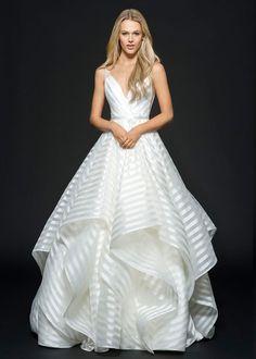 Striped Decklyn Wedding Dress by Hayley Paige | http://heyweddinglady.com/styling-decklyn-hayley-paige/