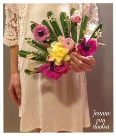 Bruidswerk, bloemenwaaier - Jeanne van Slooten