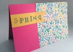 how to make a card for spring. a blog by a 10 year old...true story!