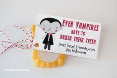 Vampire Teeth - 25 DIY Non-Candy Halloween Treats