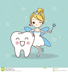 Illustration about Cartoon tooth with tooth fairy and magic wand, great for dental care concept. Illustration of hygiene, flying, comic - 70278364