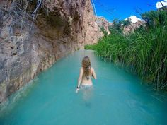 Havasu Falls in Arizona is paradise on Earth. It is an incredible waterfall located in the Grand Canyon, Arizona. Havasu Falls is part of the Havasupai American Indian Reservation. The hike starts at Hualapai Hilltop Dream Vacations, Vacation Spots, Romantic Vacations, Italy Vacation, Vacation Travel, The Places Youll Go, Places To See, Places To Travel, Travel Destinations