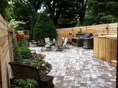 Landscaping Toronto - backyard patio using brussels interlock.