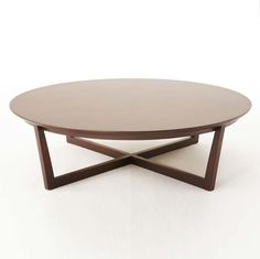 Belize Round Coffee Table in Dark Brown