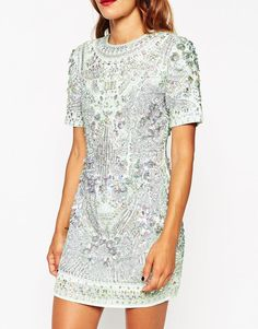 ASOS | ASOS RED CARPET Premium Embellished Show Tank Shift Dress at ASOS