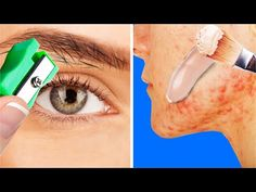 Amazing beauty tricks and everyday solutions to all of your problems I show you how to remove your contact lenses by folding some Q-tips and turning them int. Natural Toner, Natural Hair Mask, Natural Skin Care, Natural Hair Styles, Beauty Care, Diy Beauty, Beauty Hacks, Freckle Remover, Makeup Face Charts