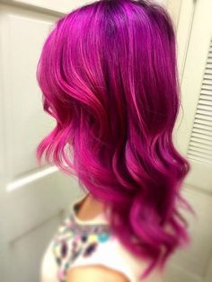 Radiant orchid Hair Color 12648 50 Magenta Hair Color Ideas for Bold Women Magenta Hair Colors, Hair Dye Colors, Ombre Hair Color, Hair Color Underneath, Pink Purple Hair, Hair Color Images, Hair Pictures, Hair Highlights, New Hair