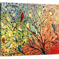 Twenty Seven Birds Canvas Print