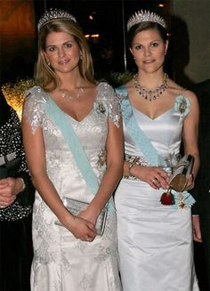 Royal Sisters...(L) Princess Madeleine and (R) Crown Princess Victoria of Sweden