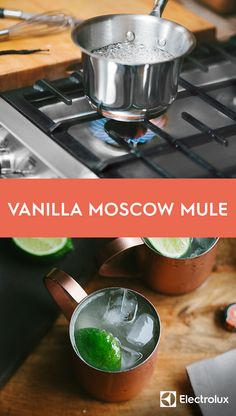 Change up the classic Moscow Mule this winter be adding some vanilla to your copper mug. Simmer fresh vanilla bean, ginger, and lime into a seriously tasty syrup for a refreshing spin on this cocktail.