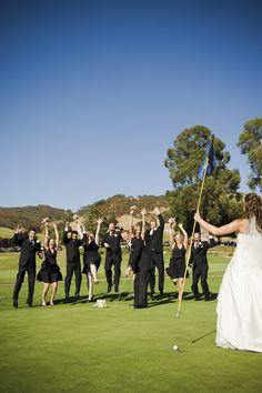 Golf Course Wedding Picture
