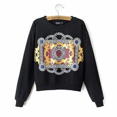 Grecian Printed Sweatshirt