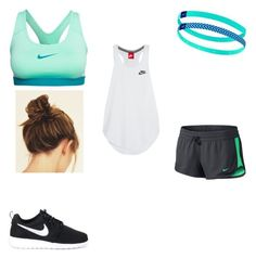 """""""Working out"""" by peytonhood ❤ liked on Polyvore featuring NIKE"""