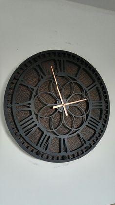 (notitle) – clock steel all colors unique selfmade - Clock Art, Diy Clock, Clock Decor, Cool Clocks, Big Wall Clocks, Bicycle Clock, Wall Clock Wooden, Living Room Clocks, Wall Watch