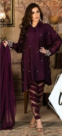 I want to buy this ladies dress. Would you like provide me. Pakistani Dresses Casual, Pakistani Bridal Dresses, Pakistani Dress Design, Indian Dresses, Indian Outfits, Stylish Dress Designs, Stylish Dresses, Simple Dresses, Casual Dresses