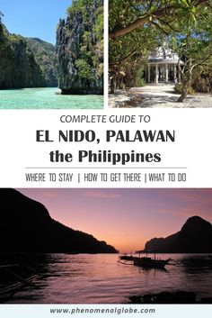 The ultimate travel guide to El Nido, a tropical paradise on the island Palawan in the Philippines. Detailed information about how to get there, what to do and where to stay in El Nido. El Nido is a… El Nido Palawan, Palawan Tour, China Travel, Japan Travel, Vietnam Travel, Travel Tips, Travel Destinations, Travel Ideas, Travel Checklist
