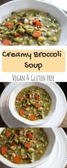 Creamy Broccoli Soup | Vegan Recipes | Vegan Soup | Gluten Free Recipes | Gluten Free Soup | Creamy Vegan Soup | Thick Soups | Dinner | Easy 1 pot meal | Easy 1 pot dinner | Best left over meal | plant based foods | Plant Based Diet | What Vegans Eat | #whatveganseat #glutenfree #Veganrecipe