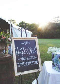 Custom lettering for vintage botanical country wedding #weddingideas
