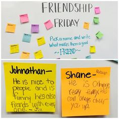 Friendship Friday! I work on community building ALL year and want my students to appreciate each other, especially at this time of year. Thank you to my two students for thinking of this great idea! #buildingcommunity #friends #interactive #miss5thswhiteboard