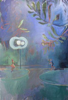 "Saatchi Art Artist Charlotte Evans; Painting, ""serve"" #art"
