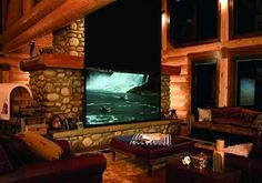 log cabin home theater
