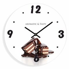 Kuchynské hodiny s motívom čokolády Clock, Wall, Decor, Watch, Decoration, Clocks, Walls, Decorating, Deco