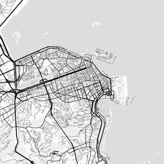 Laredo Texas Downtown vector map Texas Print templates and Template