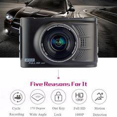 Dashcam/Full/HD/1080P/Cam/éra/Embarqu/ée/Voiture/DVR/170/°/Grand/Angle/3/LCD/WDR/Vision/Nocturne/Motion/D/étection/Moniteur/de/Statio