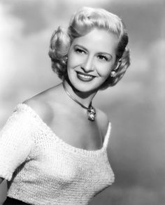 Actress, entertainer and sex symbol of the 40s and 50s, Marilyn Maxwell was born today 8-3 in 1921. She appeared in some films, radio programs and entertained troops during WWII and the Korean Warn on USO tours with Bob Hope, whom it was well known she had a long affair with. She was much beloved by Hollywood insiders. She passed in 1972.