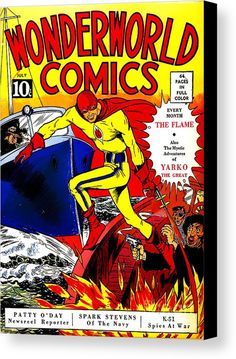 Wonderworld Comics (Jul cover by Lou Fine. Old Comic Books, Free Comic Books, Comic Book Covers, Old Comics, Vintage Comics, Comic Poster, Poster Marvel, Classic Comics, Le Far West
