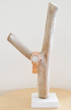 Driftwood Bracelet Jewellery Jewelry Watch Display Holder Storage Rustic Beach White Natural Organic Shabby Chic Jewelery