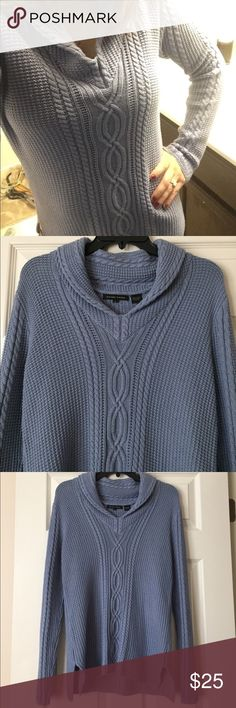 """Jeanne Pierre Sweater Blue Jeanne Pierre Sweater. Excellent Condition. 100% Cotton. Length from one shoulder down is 28"""". Jeanne Pierre Sweaters"""