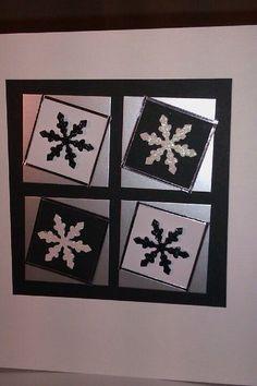 Monochrome snowflake card