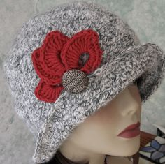 Crochet HAT PATTERN Fitted Flapper Style With by kalliedesigns, $4.00