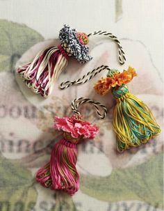 "Flower Blossom Tassels are a lovely addition to so many things...these are precious in their own way at 7"" long from the top of the bud to the bottom of the tassel."