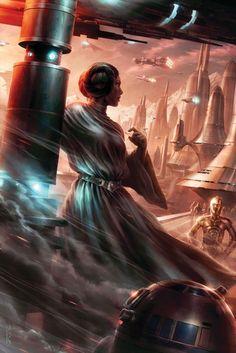 Star Wars art by Raymond Swanland