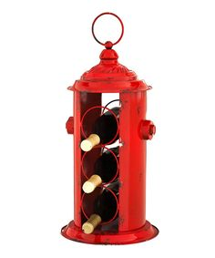 Love this Fire Hydrant Wine Bottle Holder by Evergreen on #zulily! #zulilyfinds