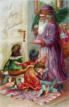 Enchanting Christmas postcards from 1800s - early 1900's