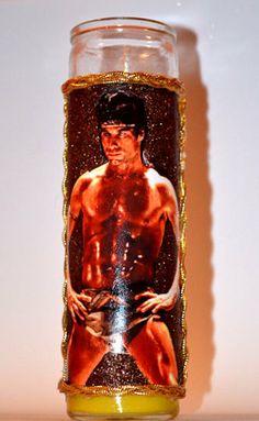 John Travolta Staying Alive Prayer Candle