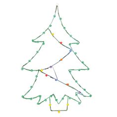 Vickerman 48 in. LED Christmas Tree Silhouette Light Display - X146037