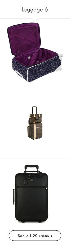 """Luggage 6"" by wwetnagirl ❤ liked on Polyvore featuring bags, luggage, louis vuitton, accessories, bolsas, men's fashion, men's bags, black, mens travel bag and mens leather carry on bags"