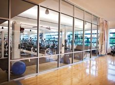 General Mills' on-site #fitness center in their Minneapolis headquarters. Take classes, work with a personal trainer, even get a massage! #exercise, #fitness