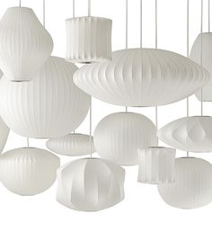 Herman Millers Collection Of George Nelson Bubble Lamps Originally Designed In 1952 Features A
