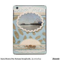 Santa Monica Pier Autumn Scrapbooking iPad Mini Case