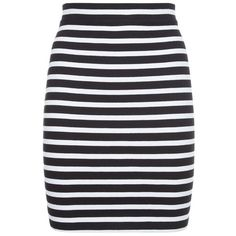 T by Alexander Wang Striped Skirt ($130) ❤ liked on Polyvore featuring skirts, bottoms, striped jersey, black white pencil skirt, jersey pencil skirt, fitted pencil skirt and striped pencil skirt