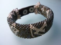 Beaded bracelet  Beaded Crochet Bracelet by omes37 on Etsy, $28.00