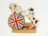 """""""With Father Tuck at the Circus"""" two dogs figure"""